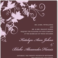 Stationery, purple, invitation, Invitations, Wine