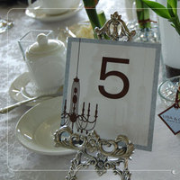 Favors & Gifts, blue, brown, favor, Table Numbers, Wedding, Table, Bamboo, Number, Chandelier, Sign, Edmonton, Nuance occasions