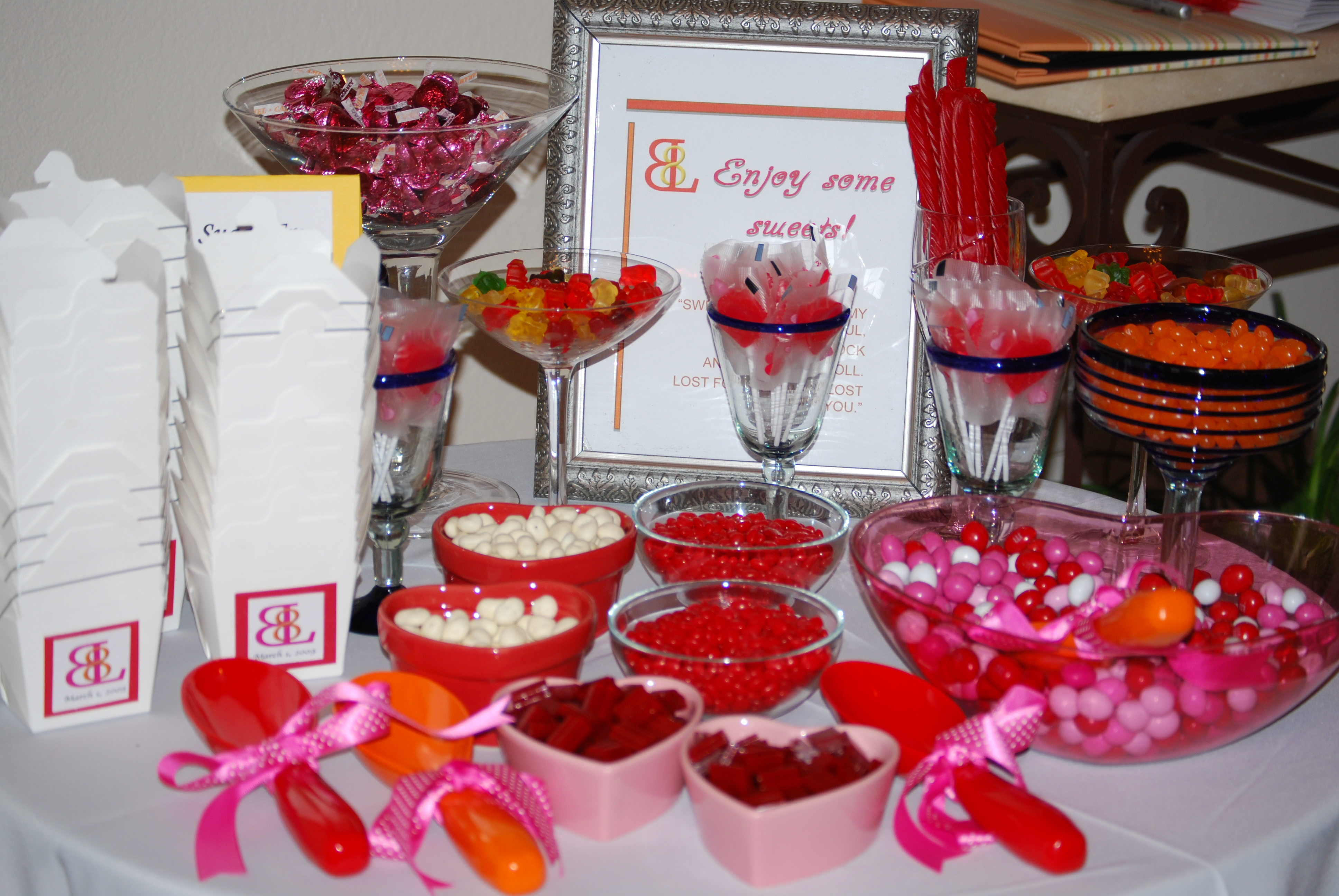 Reception, Flowers & Decor, Candy, Events, Beautiful, Ideas, Bar, Day, The radiant touch weddings