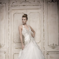 Wedding Dresses, A-line Wedding Dresses, Fashion, dress, Gown, Wedding, Bridal, A-line, Beading, Halter, Couture, Chapel, European, The bridal warehouse, halter wedding dresses, Beaded Wedding Dresses