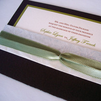 Stationery, green, brown, invitation, Invitations, Custom, And, Chocolate, Design, Borwn, Tulaloo