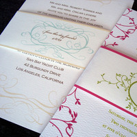 Stationery, pink, green, invitation, Invitations, Band, Elegant, Preppy, Taupe, Belly, Tulaloo