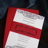 Stationery, white, red, black, invitation, Invitations, Custom, Band, Design, Belly, Tulaloo