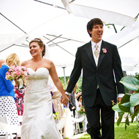 Ceremony, Flowers & Decor, Wedding Dresses, Fashion, dress, Bride, Groom, Wedding, Umbrella, Sacred image photography, Outdoor wedding