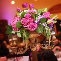 purple, Centerpieces, Candleabras, Kelly and company, wine country weddings and events