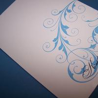 Stationery, blue, invitation, Invitations, Scroll, Booklet, Cream, The w design studio
