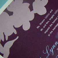 Stationery, purple, invitation, Invitations, Orchid, Teal, Printing, The w design studio