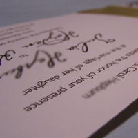 Stationery, green, Invitations, Ribbon, Eggplant, The w design studio