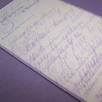 Stationery, purple, Invitations, Vows, The w design studio, Transparency