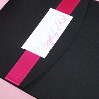Stationery, white, pink, black, invitation, Invitations, Pocketfold, The w design studio