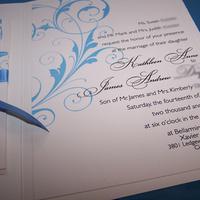 Stationery, blue, invitation, Invitations, Scroll, Booklet, Cream, The w design studio
