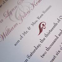 Stationery, white, red, black, Invitations, The w design studio, Petalfold