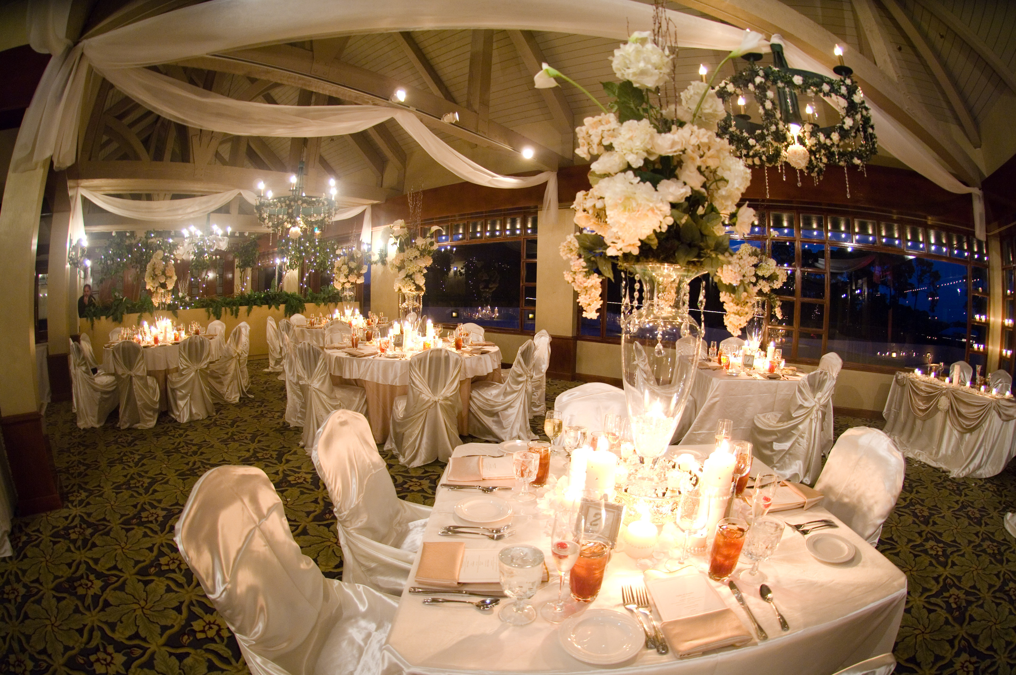 Reception, Flowers & Decor, Decor, Centerpieces, Flowers, And, Chair, Draping, Events, Designs, Linens, Lake, Covers, Chic, Mary, Fl