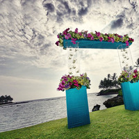Destinations, blue, Hawaii, Ceremony Flowers, Wedding, Destination, Orchids, Inviting occasion