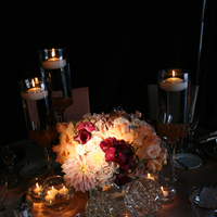 Flowers & Decor, Centerpieces, Modern, Flowers, Modern Wedding Flowers & Decor, Centerpiece, Peach, Dahlias, Taupe, Inviting occasion