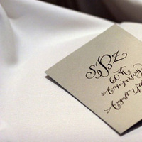 Calligraphy, gold, Wedding, Program, Anniversary, Give my regards to