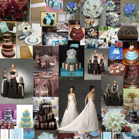 Cakes, blue, brown, cake, Accents, Colors