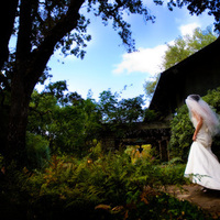 Ceremony, Flowers & Decor, Wedding Dresses, Fashion, white, dress, Bride, Outdoor, Gown, Walking, Private, Residence, Home, House, Forest, Processional, Trees, Woods, Sargent photoworks