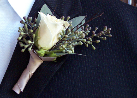 Flowers & Decor, ivory, green, Boutonnieres, Flowers, Boutonniere, Taupe, Floral verde llc