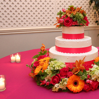 Flowers & Decor, Cakes, orange, pink, green, cake, Flowers, Floral verde llc