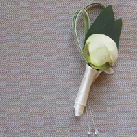 Flowers & Decor, white, Boutonnieres, Flowers, Boutonniere, Peony, Floral verde llc