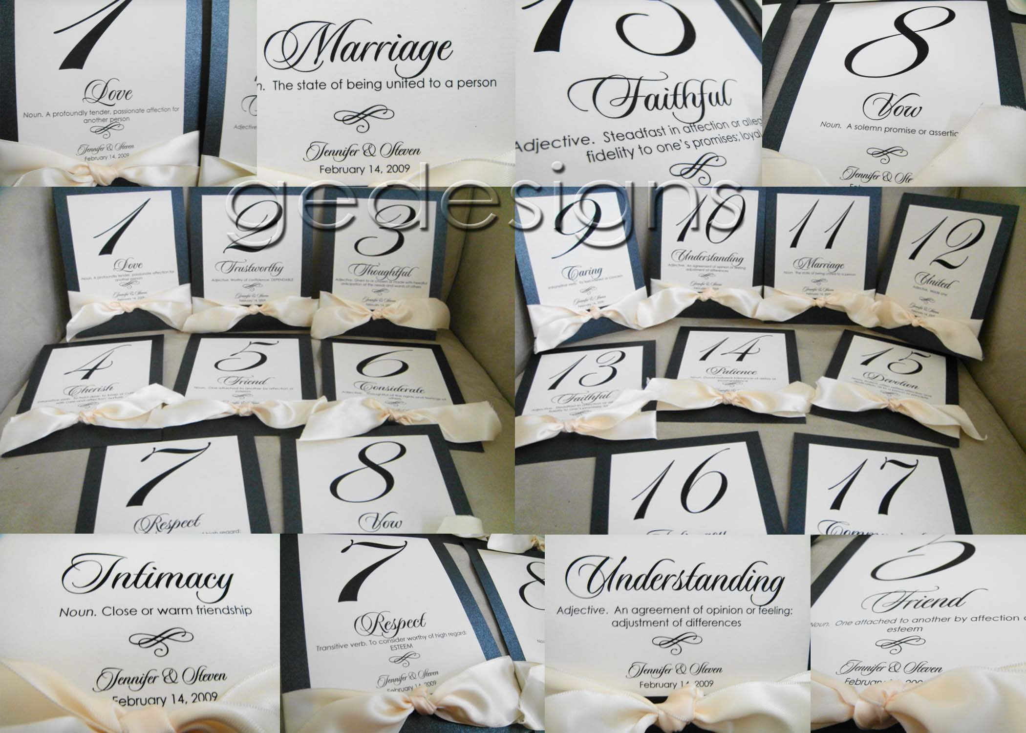 Reception, Flowers & Decor, Stationery, Monogram, Table, Numbers, Ge designs