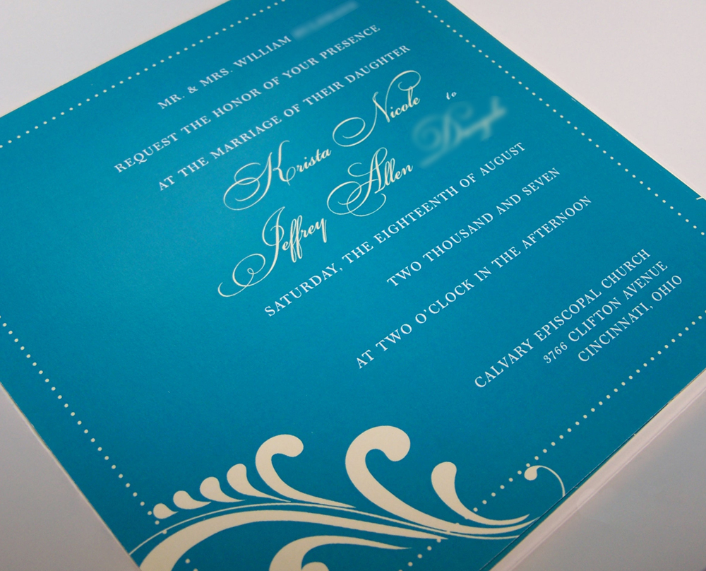 Stationery, yellow, Invitations, Teal, Art, Deco, The w design studio, Petalfold