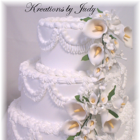 Flowers & Decor, Cakes, cake, Flowers, Wedding, Calla, Lily, Fake, Spray, Rentafakecake, Paste, Gum