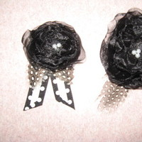 Beauty, DIY, Flowers & Decor, white, black, Feathers, Boutonnieres, Damask, Corsage, Feather