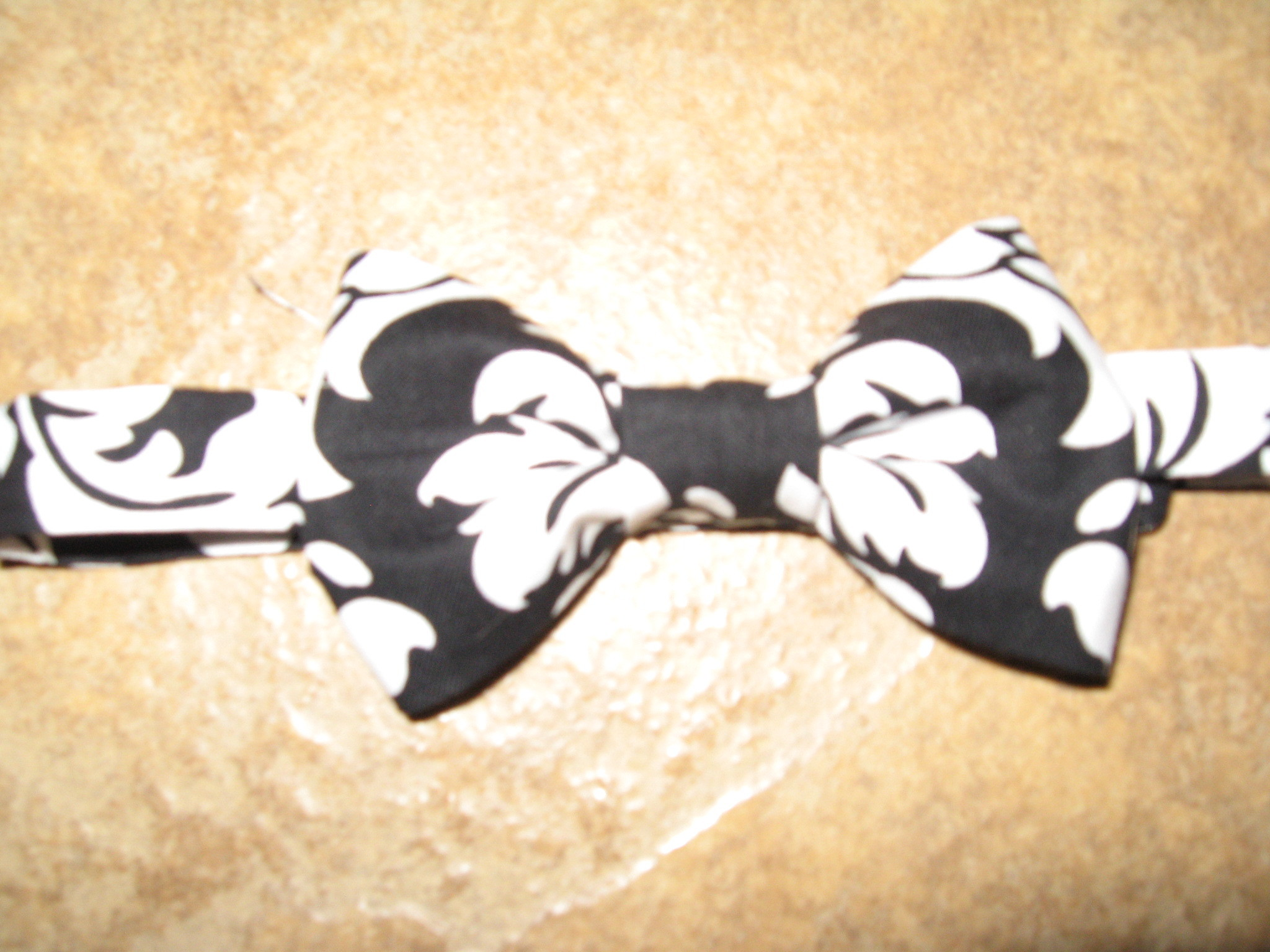 DIY, white, black, Tie, Damask, Bow
