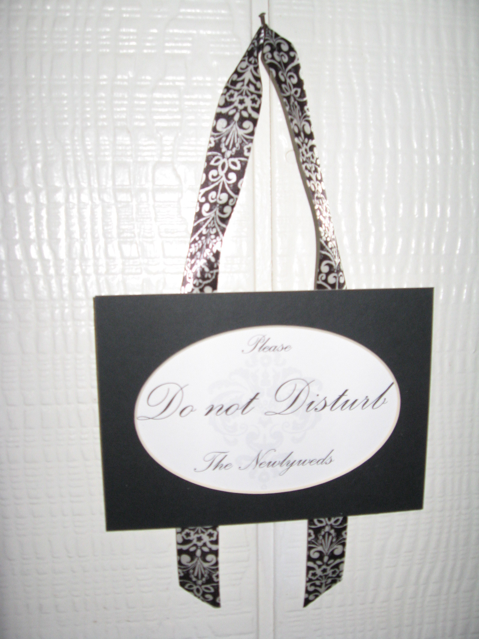 DIY, white, black, Do, Sign, Damask, Not, Disturb