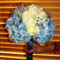 Flowers & Decor, white, blue, Bride Bouquets, Flowers, Bouquet