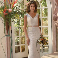 Wedding Dresses, Lace Wedding Dresses, Fashion, dress, Lace, Sheath, V, Neck, Sheath Wedding Dresses