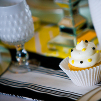 Cakes, white, yellow, black, cake, Cupcake, Deco