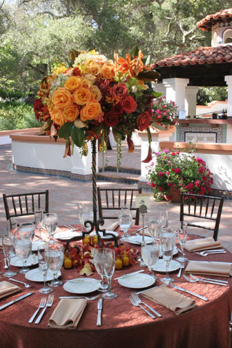 orange, green, Fall, Rustic, Centerpiece, Colors, Old, Las, Rancho, Lomas, Italian, Rust, Iron, Wrought, World, Inviting occasion