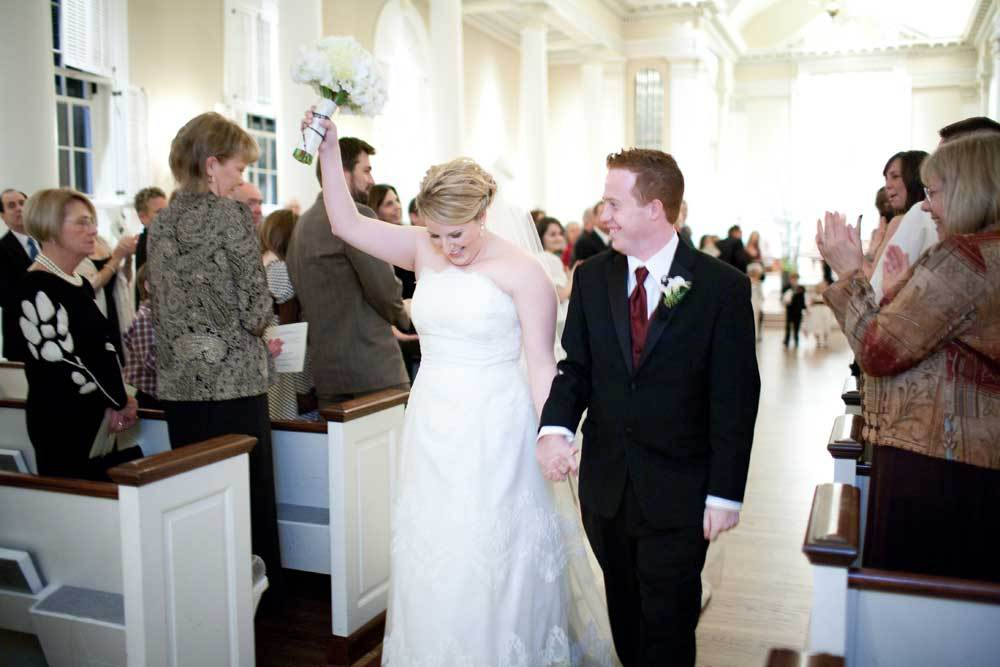 Bride, Groom, Wedding, Church, Exit, Picture, Chapel, Baptist, Lynn michelle photography