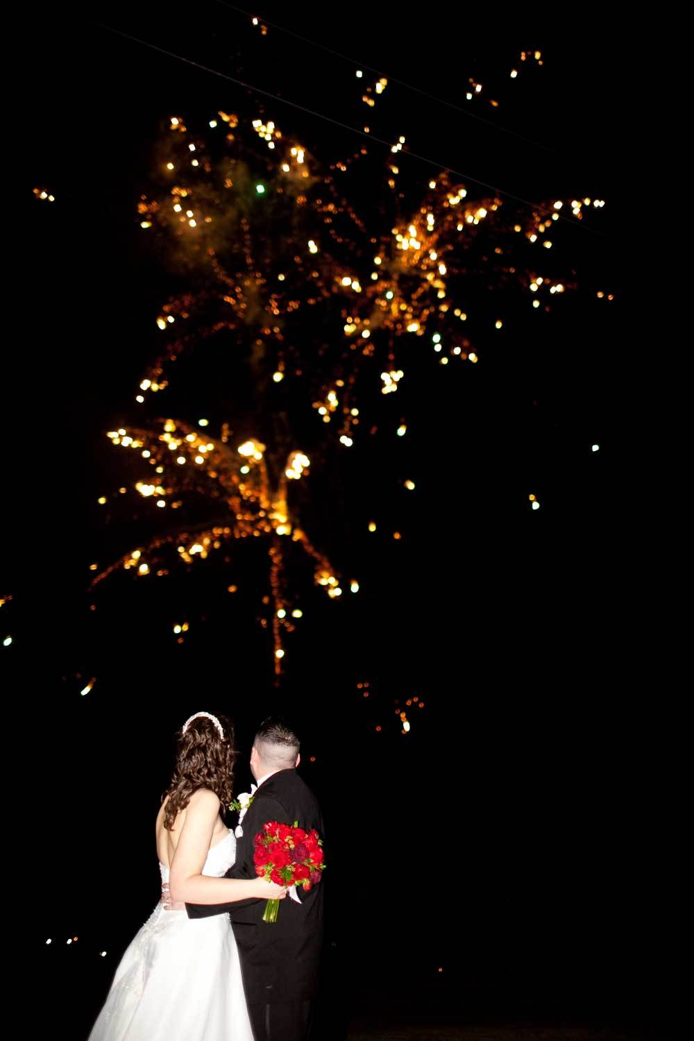 Bride, Groom, And, Exit, Victorian, House, Picture, Fireworks, Lynn michelle photography