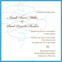Stationery, blue, invitation, Invitations, Invite, Pen, Celebration invitations, Swoosh