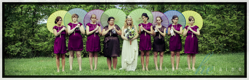Beauty, Flowers & Decor, Favors & Gifts, Bridesmaids, Bridesmaids Dresses, Fashion, yellow, purple, blue, green, Feathers, Favors, Bridesmaid Bouquets, Flowers, Flower, Girl, Umbrellas, Color, Hannahelaine photography, 50s, 40s, Peacocks, Flower Wedding Dresses, Feather Wedding Dresses