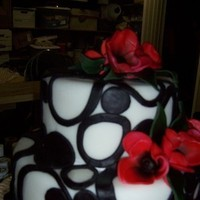 Cakes, white, pink, red, black, cake, Wedding, Circles, Cake-cakes