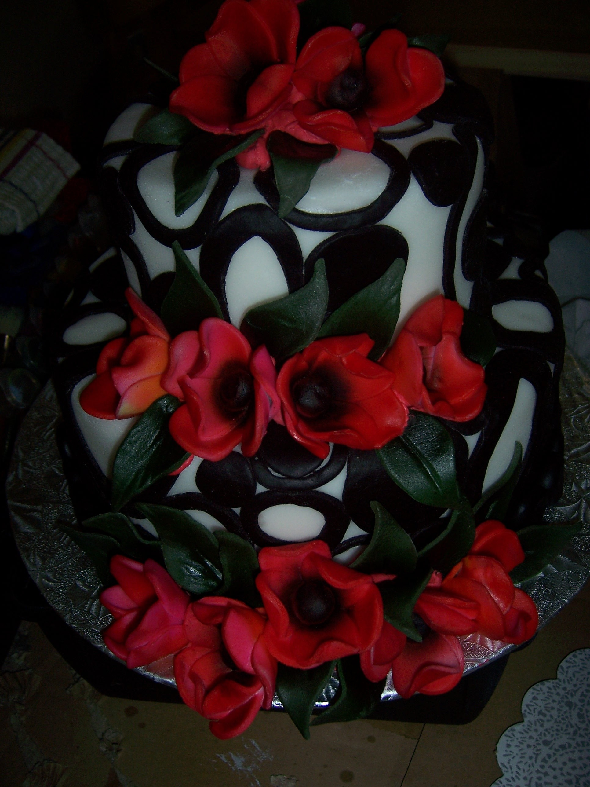 Cakes, white, cake, Modern, Modern Wedding Cakes, Wedding, Circles, Cake-cakes, Balck