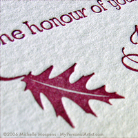 Stationery, red, brown, black, Fall, Invitations, Wedding, Letterpress, Autumn, Leaves, My personal artist