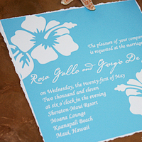 Stationery, blue, Invitations, Wedding, Hawaiian, Aqua, Hibiscus, My personal artist