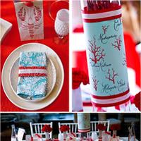 white, red, blue, Beach, Wedding, Nautical, Aqua, Lobster