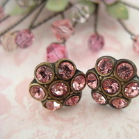 Flowers & Decor, Jewelry, pink, Earrings, Flower, Girl, Lulu splendor, Brideamaids