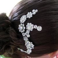 Beauty, Comb, Hair, Swarovski, Accessory, Rhinestone, Lulu splendor
