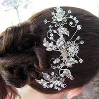 Beauty, Flowers & Decor, Comb, Flower, Hair, Crystal, Swarovski, Accessory, Rhinestone, Lulu splendor
