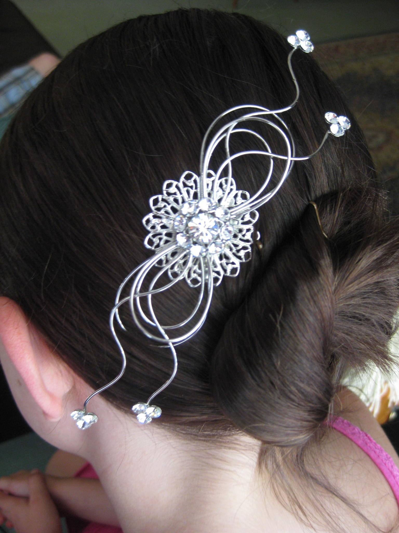 Beauty, silver, Comb, Hair, Swarovski, Accessory, Rhinestone, Lulu splendor, Rhodium