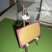 Place card, Easel, Sweet lable
