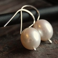 Jewelry, white, Earrings, Bridal, Pearls, Sets, Dangle, Bridesmaid jewelry, South paw studios